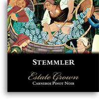 Vv Robert Stemmler Winery Pinot Noir Estate Grown Carneros