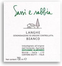2011 Giovanni Almondo Sassi E Sabbia Langhe Bianco