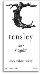 2012 Tensley Santa Barbara County Viognier