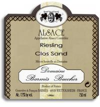 2012 Domaine Barmes-Buecher Riesling Clos Sand