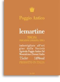 2012 Poggio Antico Lemartine Igt Super Tuscan