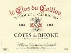 2011 Le Clos Du Caillou Cotes Du Rhone Bouquet Des Garrigues