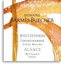 2011 Domaine Barmes-Buecher Gewurztraminer Wintzenheim Cuvee Maxime