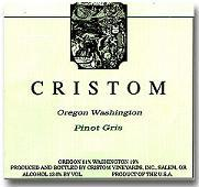 2010 Cristom Vineyards Pinot Gris Oregon Washington