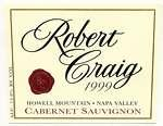 2007 Robert Craig Cabernet Sauvignon Howell Mountain