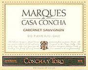 Vv Concha Y Toro Cabernet Sauvignon Marques De Casa Concha Puente Alto Vineyard Maipo Valley