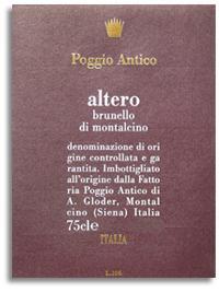 2004 Poggio Antico Brunello Di Montalcino Altero