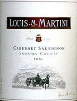 2010 Louis Martini Winery Cabernet Sauvignon Sonoma County