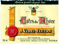 2011 J. Vidal Fleury Cotes du Rhone