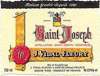 2012 J. Vidal Fleury Saint-Joseph