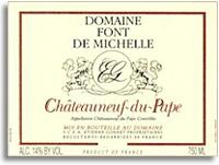 2012 Domaine Font de Michelle Chateauneuf-du-Pape
