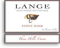2012 Lange Winery Pinot Noir Three Hills Cuvee Willamette Valley