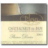 2003 Patrick Lesec Chateauneuf-du-Pape Pierres Dorees