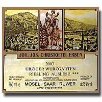 2004 Joh. Jos. Christoffel Erben Urziger Wurzgarten Riesling Auslese ***