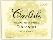 2004 Carlisle Winery Zinfandel Fava Ranch Russian River Valley