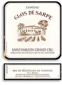 2012 Clos de Sarpe Saint-Emilion