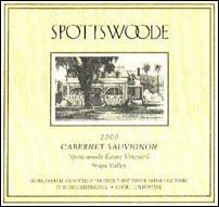 2003 Spottswoode Vineyard Cabernet Sauvignon Estate Napa Valley
