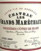 2008 Chateau Les Grands Marechaux Premieres Cotes De Blaye