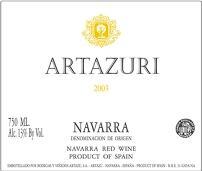2008 Bodegas Artazu Garnacha Navarra