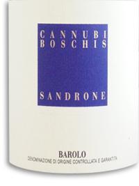 1991 Sandrone Barolo Cannubi Boschis