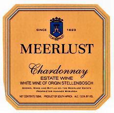 2010 Meerlust Estate Chardonnay Stellenbosch