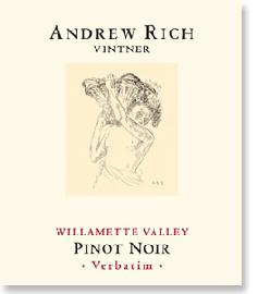 2014 Andrew Rich Wines Pinot Noir Verbatim Willamette Valley