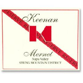 2012 Robert Keenan Winery Mernet Reserve Spring Mountain District