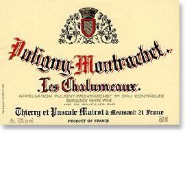 2013 Domaine Thierry et Pascale Matrot Puligny-Montrachet Les Chalumeaux 1er Cru
