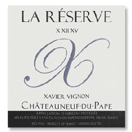 Xavier Vignon Chateauneuf-du-Pape La Reserve X XII XV