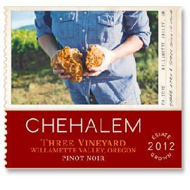 2012 Chehalem Pinot Noir Estate Three Vineyard Willamette Valley