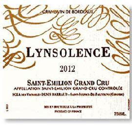 2012 Lynsolence Saint-Emilion Grand Cru