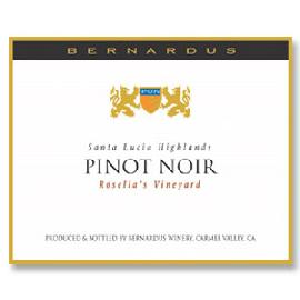 2013 Bernardus Pinot Noir Rosella's Vineyard Santa Lucia Highlands