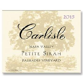 2015 Carlisle Winery Petite Sirah Palisades Vineyard Napa Valley