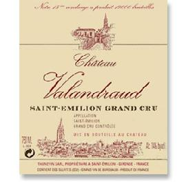 2012 Chateau Valandraud Saint-Emilion 1st Grand Cru Classe