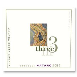 2014 Three Wine Company Mataro Spinelli Vineyard