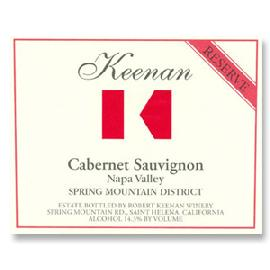 2013 Robert Keenan Winery Cabernet Sauvignon Reserve Spring Mountain District