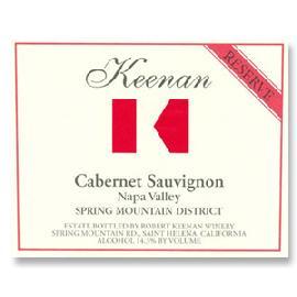 2013 Robert Keenan Winery Cabernet Sauvignon Reserve Spring Mountain District
