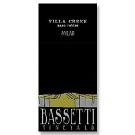 2012 Villa Creek Cellars Villa Creek Syrah Bassetti Vineyard