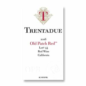 2016 Trentadue Winery Old Patch Red Lot Num 44