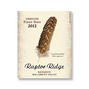 2008 Raptor Ridge Winery Pinot Noir Reserve Willamette Valley