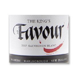 2017 The King's Favour Sauvignon Blanc Waihopai Marlborough New Zealand