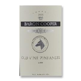 2015 Baron Cooper Old Vine Zinfandel