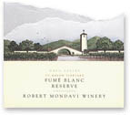 Vv Robert Mondavi Winery Fume Blanc Reserve Napa Valley