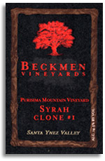 2011 Beckmen Syrah Clone 1 Purisima Mountain Vineyard Santa Ynez Valley