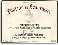 2009 Chateau de Beaucastel Chateauneuf-du-Pape Blanc