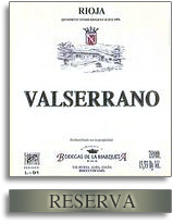 Vv Bodegas De La Marquesa Valserrano Reserva Rioja