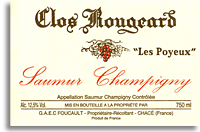 2011 Clos Rougeard Saumur Champigny Les Poyeux