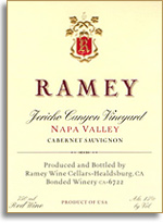 2007 Ramey Wine Cellars Cabernet Sauvignon Jericho Canyon Vineyard Napa Valley