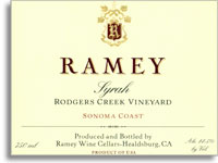 2010 Ramey Wine Cellars Syrah Rodgers Creek Vineyard Sonoma Coast