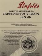 2007 Penfolds Wines Cabernet Sauvignon Bin 707 Barossa Valley